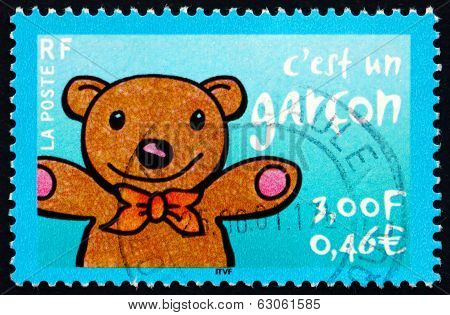 Postage Stamp France 2001 Teddy Bear