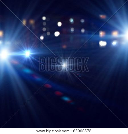 Background image of stage in color lights