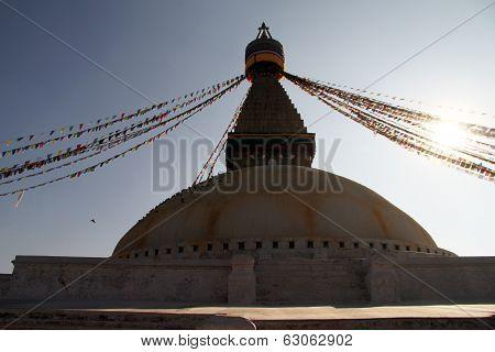 Sunrise And Stupa