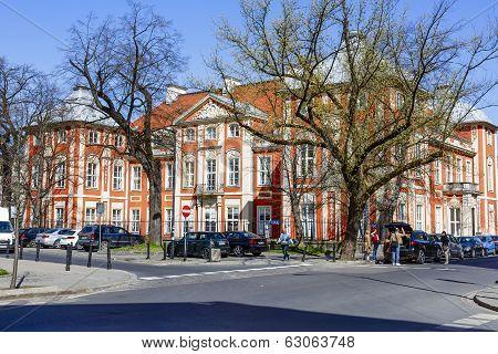 Academy Of Fine Arts In Warsaw In Czapski Palace