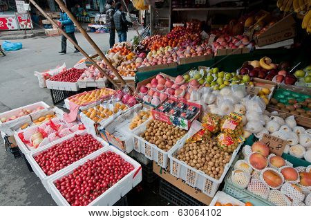 Food Market In Shanghai