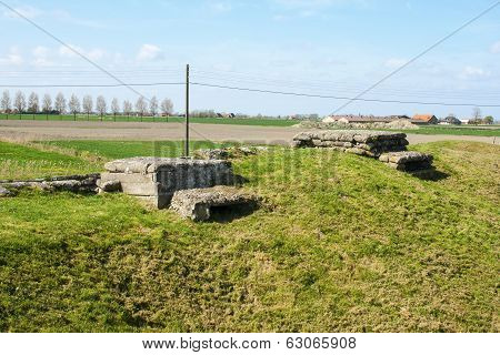 Bunker Pillbox First Wotld War Trench Of Death