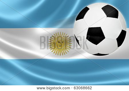 Soccer Ball Leaps Out Of Argentinian Flag