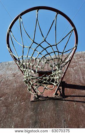Closeup Of Basketball Backboard And Hoop Outdoor