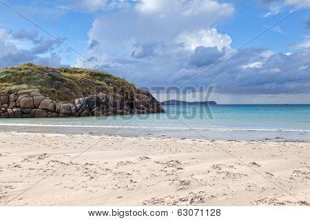 Sandy Beach Along Donegal Coast