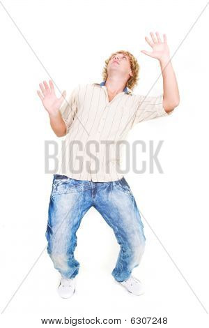 Shocked Guy Isolated Over White