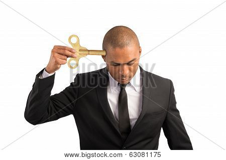 Businessman Discharge Energy