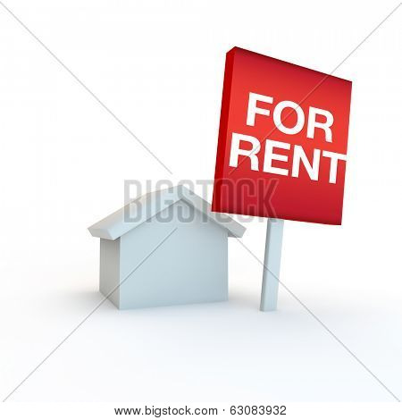 3d render of a real estate icon idea
