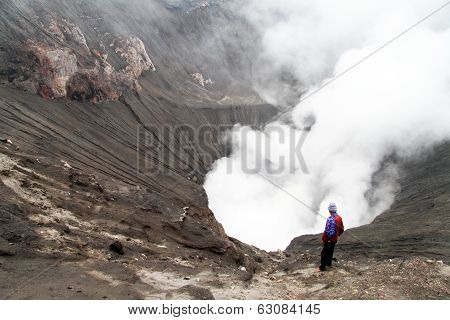 Man In Crater