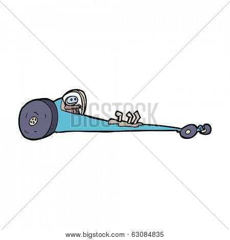 cartoon drag racer