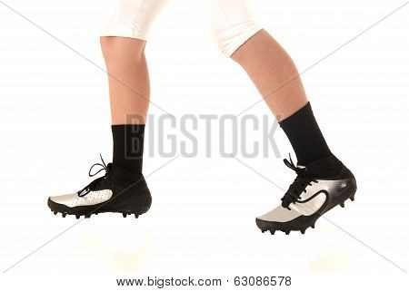 Football Or Soccer Cleats Closeup With A White Background