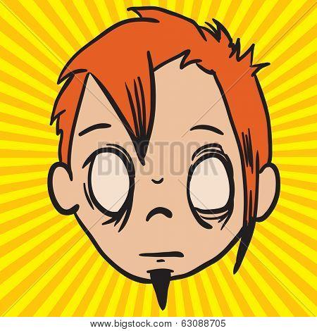 weird looking face cartoon