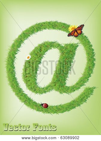 Grass AT sign  as vector