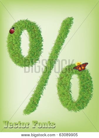 grass Percent or discount sign vector