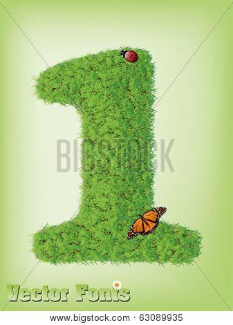 Grass font number 1