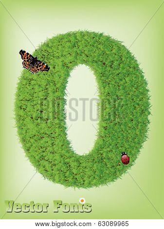 Grass font number 0