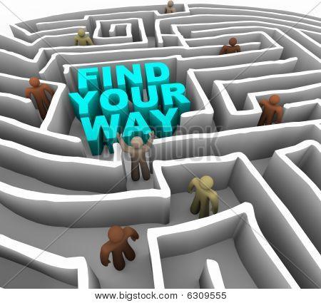 Find Your Way Through A Maze