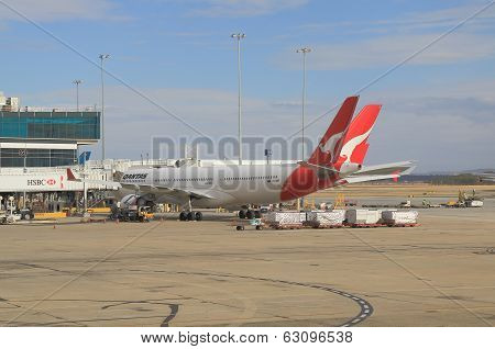 Qantas airplane