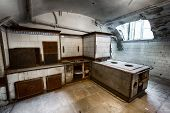 foto of basement  - kitchen in the basement of an old building - JPG