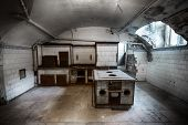 image of basement  - kitchen in the basement of an old building - JPG