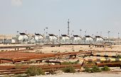 pic of bahrain  - Oil and gas industry in the desert of Bahrain Middle East - JPG