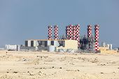 image of bahrain  - Power station plant in Bahrain Middle East - JPG