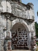 stock photo of malacca  - The famous iconic A Famosa Fort located in Malacca - JPG