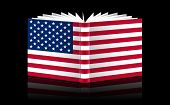 Open Book-u.s. Flag