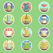 Drink Menu Flat Icon