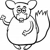 Chinchilla Cartoon Coloring Page