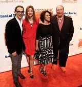 NEW YORK-APR 9: (L-R) Paolo Mastropietro, Jill Hennessy, Susan Cahn, and Mario Batali attend the Foo