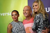 PASADENA - APR 8: Mel B, Howie Mandel, Heidi Klum at the NBC/Universal's 2014 Summer Press Day held