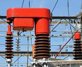 stock photo of transformer  - electrical system of change report of a current transformer in power system 4 - JPG