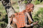Woman Sings At The Bull Jumping Ceremony, Ethiopia