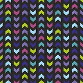 Chevron seamless vector dark colorful pattern, texture or tile background with zig zag