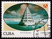 Postage Stamp Cuba 1997 Lighthouse Of Alexandria