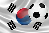 Soccer Ball Leaps Out Of South Korea's Flag