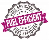 stock photo of fuel efficiency  - Fuel efficient violet grunge retro vintage isolated seal - JPG
