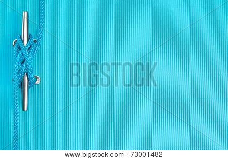 Rope - Nautical background in turquoise