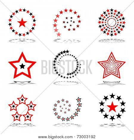 Stars set.  Design elements. Vector art.
