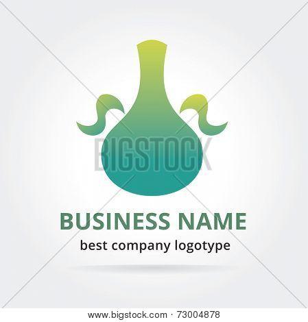 Pitcher logotype isolated on white