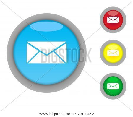 Letter Or Post Button Icons