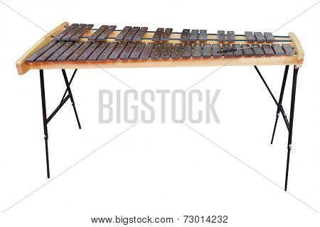 xylophone under the white background