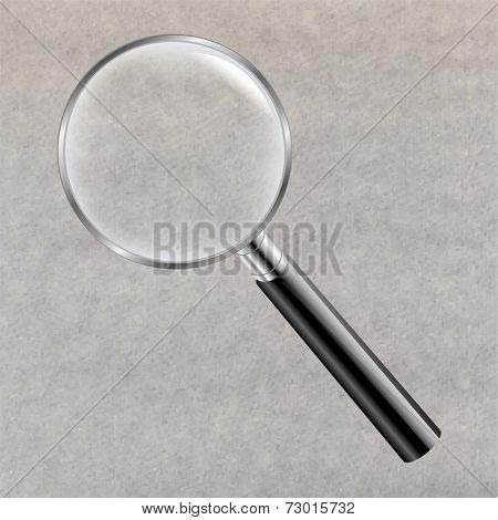 Magnifying Glass With Gradient Mesh, Vector Illustration