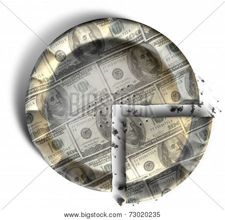 Slice Of Us Dollar Money Pie