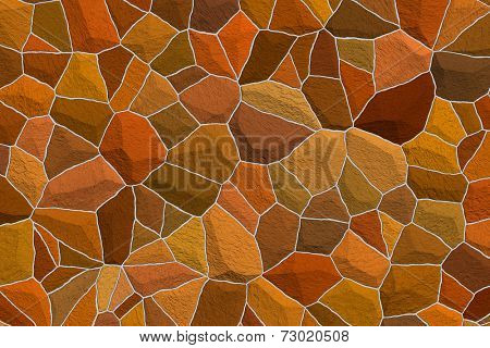 Raster illustration of an amber stone surface that is ideal for an Autumn background.