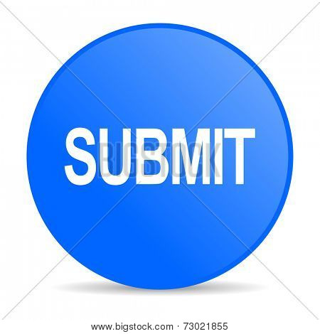 submit internet blue icon