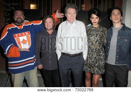 LOS ANGELES - SEP 16:  Kevin Smith, Haley Joel Osment, Michael Parks, Genesis Rodriguez, Justin Long at the