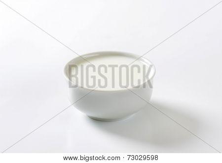 bowl of pure milk