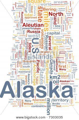 Alaska State Background Concept